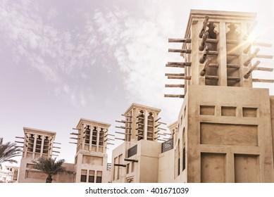 traditional historic arabian buildings in the sun