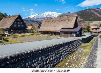 Traditional and Historical Japanese village Shirakawago at Japan