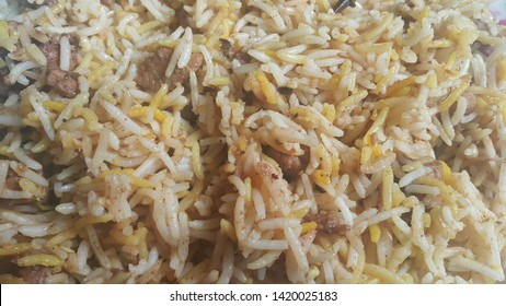 Traditional home made basmati rice pulao or pulav with chana, or vegetable rice dish