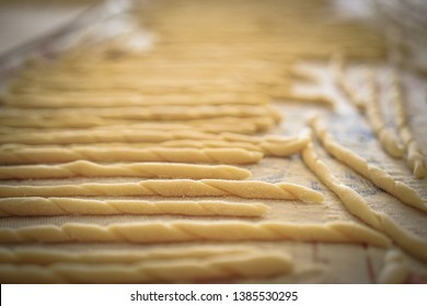 Traditional home made pasta from Calabria on Sunday morning