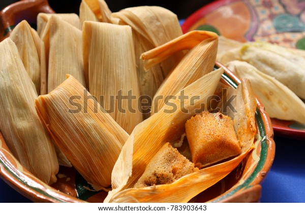 mexican food in corn husk