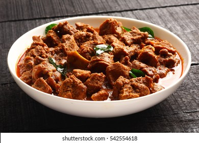Traditional homemade  Mutton curry from Asian cuisine.