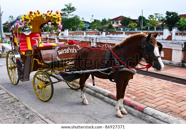 Traditional Horse Carriage, Lampang, Thailand