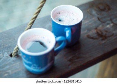 Traditional hot spicy mulled Gluhwein or red wine for Christmas