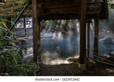 Traditional hot spring in Japan