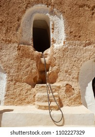 Traditional house of Berbers in the Atlas mountains in Tunisia.
