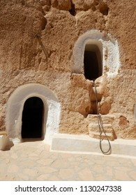 Traditional house of Berbers in the Atlas mountains – Tunisia.