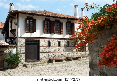 Traditional house from the Bulgarian revival period in Zlatograd town, South Bulgaria, Rhodope mountains