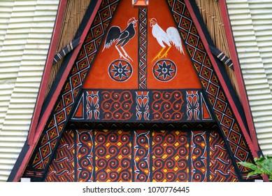 Traditional house decoration in Tana Toraja