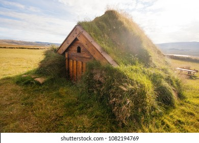 Traditional house in Iceland, recovered ancient church
