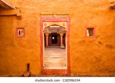 Traditional House in Kuldhara abandoned village near Jaisalmer, Rajasthan, India