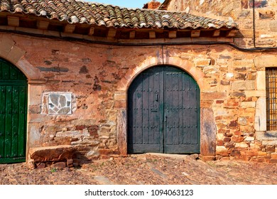 Traditional house in the medieval town called Castrillo de los Polvazares