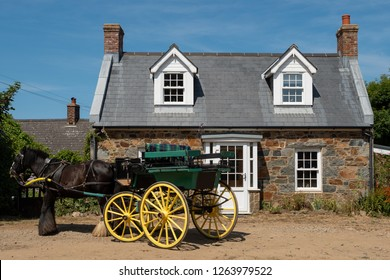 traditional house on the island sark, channel islands