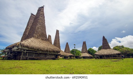 "Traditional house of ""Ratenggaro - Sumba,  East Nusa Tenggara"" Indonesia"