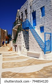 Traditional house of the town of Astypalaia, Astypalaia island, Dodecanese islands, Greece