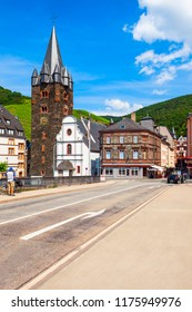 Traditional houses in Bernkastel Kues on the Moselle, Germany