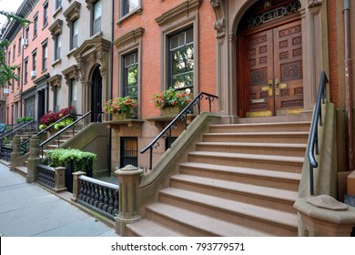Traditional houses in Brooklyn Heights, New York City