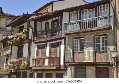 Traditional houses of the historical center of Guimaraes.