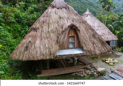 traditional houses in the mountain regions of the Luzon island,  Philippines