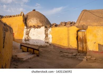 Traditional houses in Nubian village near Aswan, Egypt