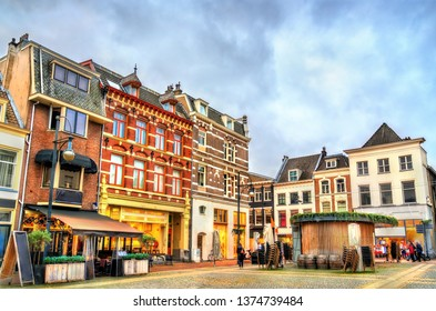 Traditional houses in the old town of Arnhem, the Netherlands