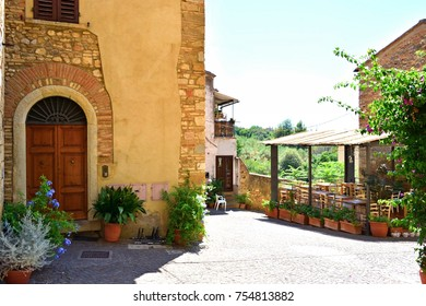 traditional houses in the old Tuscan village of Bibbona in the Val di Cecina, Livorno Italy