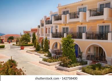 traditional houses on greek island of Kos