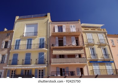 traditional houses in Saint Tropez, France