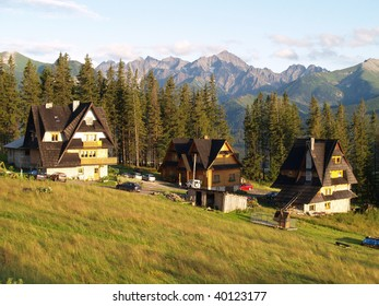 Traditional houses in Slovakia village