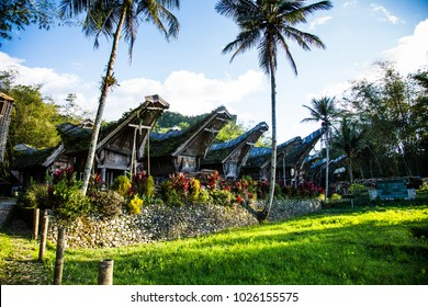 traditional houses in toraja area sulawesi