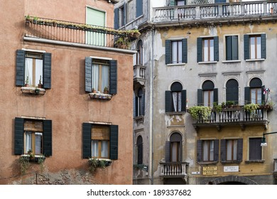 Traditional Houses in Venice, Italy