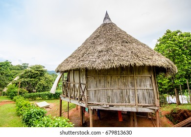 A traditional hut in an indigenous village in Panama