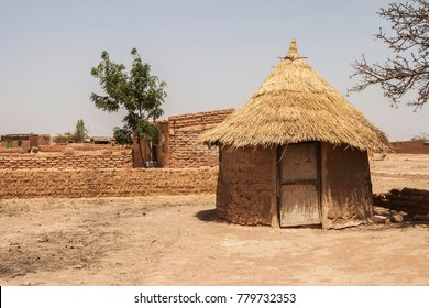 Traditional hut in a mosi village in the suburb of Ouagadougou (Burkina Faso)