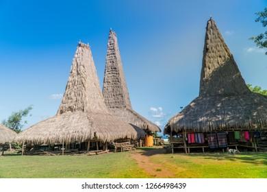 The traditional hut of Ratenggaro at Sumba, East Nusa Tenggara, Indonesia
