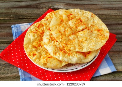 traditional indian gujarati food snack mathia papad or salted spicy fried puri