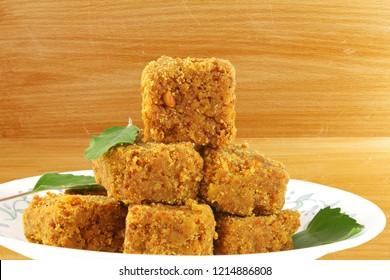 traditional indian gujarati sweet food mohanthal