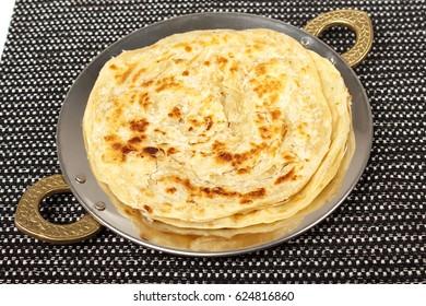 traditional indian home made roti chapati paratha