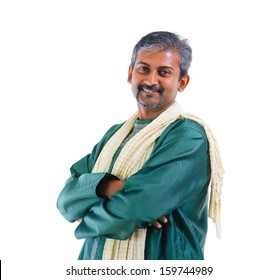 Traditional Indian man crossed arm