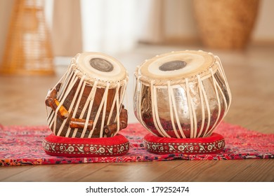 Traditional Indian tabla drums.