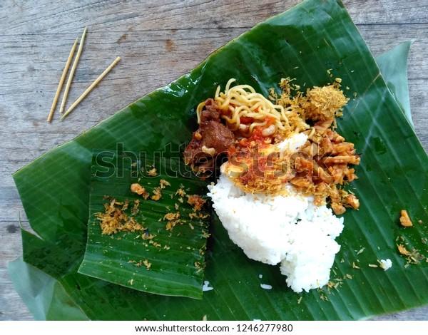 Traditional Indonesian Culinary Food Makanan Nasi Food And Drink