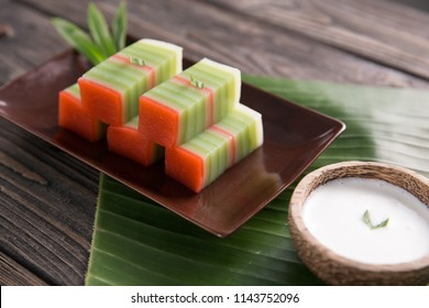 traditional indonesian food. asian culinary kue lapis