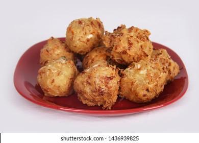 "Traditional Indonesian Vegetable Fritters Snack called ""Bakwan"" or ""Gorengan"""