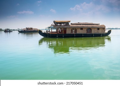 Traditional Inian house boat .Kerala. instagram effect