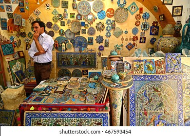 Traditional iranian market (Bazaar), October 10, 2014, Isfahan, Iran