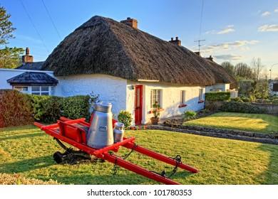 Traditional Irish cottage house.