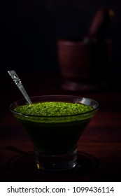Traditional Italian Basil Pesto
