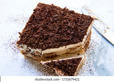 Traditional italian dessert tiramisu cake