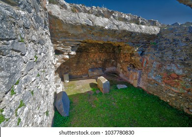 Traditional Jail of Paul in Philippi  Greece; This is the traditional jail cell of the Apostle Paul and Silas in Philippi as told in Acts 16.