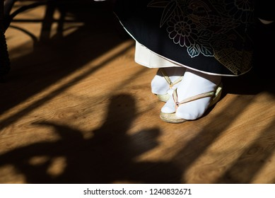 traditional japan  shoes with white socks - flip-flops, Slippers