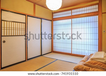 Traditional Japanese Bedroom Interior Stock Photo Edit Now